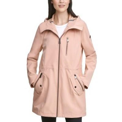 カルバンクライン レディース コート アウター Hooded Anorak Raincoat Rose Pink