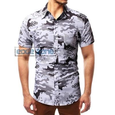 花柄シャツ メンズ アロハシャツ 半袖 魚柄 ハワイシャツ アメカジ リゾート 個性 ビッグシルエット 夏
