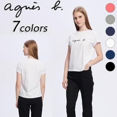 二枚目3180円 アニエスベー agnes b. アニエスベー tシャツ レディース メンズ Tシャツ 半袖 カットソー ロゴTシャツ 在庫処分