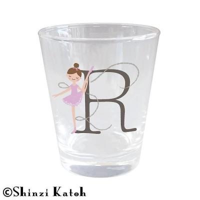 Shinzi Katoh バレリーナ イニシャルグラス R ARK-1471-R キャンセル返品不可 【出荷グループ A】他の商品と同梱制限有