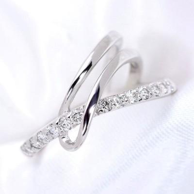 ダイヤモンド 0.310ct  リング/指輪 K18 PG WG PT 曲線美こそ当店の得意芸! /白・透明(ホワイト)/受注生産品・新品/届30 ギフト プレゼント