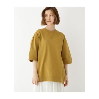 BASE CONTROL(Ladies)(ベースコントロール(レディース))ビッグシルエット リブ付き 半袖 Tシャツ