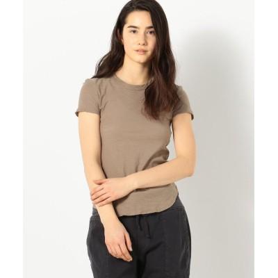 (JAMES PERSE/ジェームス パース)スラブジャージー クルーネックTシャツ WUA3037/レディース 46ブラウン系