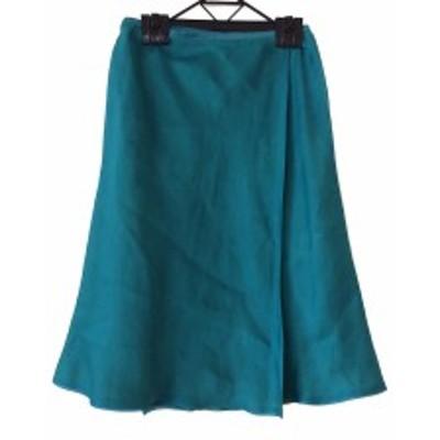 シビラ Sybilla 巻きスカート サイズSS XS レディース 美品 ライトグリーン【中古】20200421