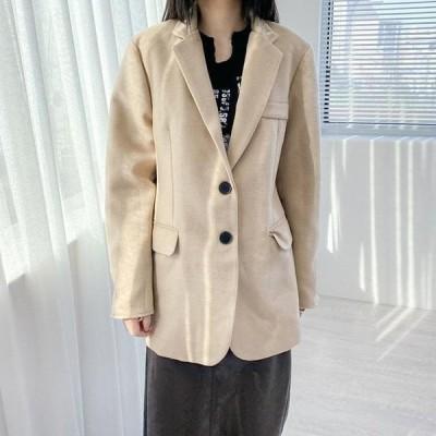 VANILLAMILK レディース ジャケット Cain Wool Standard Overfit Jacket