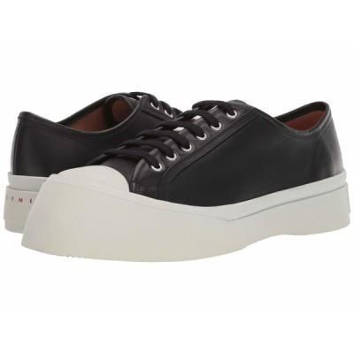 マルニ スニーカー シューズ メンズ Leather Big Toe Sneaker Black