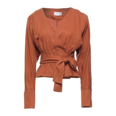 SOALLURE シャツ ブラウン 44 テンセル 100% シャツ