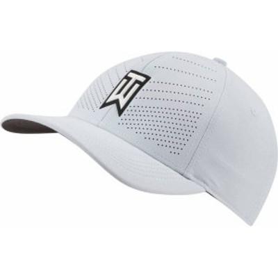 ナイキ メンズ 帽子 アクセサリー Nike Men's 2020 AeroBill Tiger Woods Heritage86 Perforated Golf Hat Sky Grey/Black