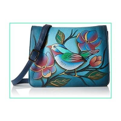 Anna by Anuschka Womens Genuine Leather Small Flap-Over Handbag | Cross Body Organizer | Lonesome Bird Denim,One Size並行輸入品