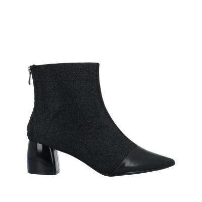 EMANUÉLLE VEE ショートブーツ ブラック 38 山羊革 / 紡績繊維 ショートブーツ