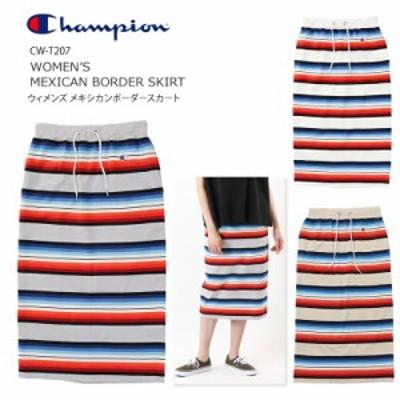 [2021春夏新作] チャンピオン CHAMPION ウィメンズ メキシカン ボーダー スカート 21ss WOMEN'S MEXICAN BORDER SKIRT カットソー ロン