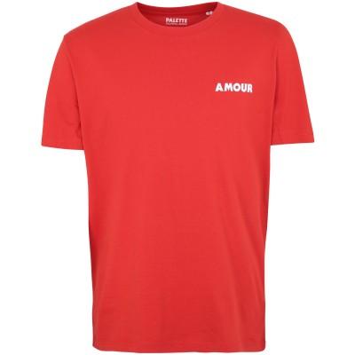 PALETTE COLORFUL GOODS T シャツ レッド S オーガニックコットン 100% T シャツ
