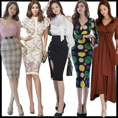 10/22 新作追加 送料無料特価高品質韓国ファッションOL正式な場合礼装ドレスセクシーなワンピース一字肩二点セット側開深いVネックやせて見えるハイウエスト