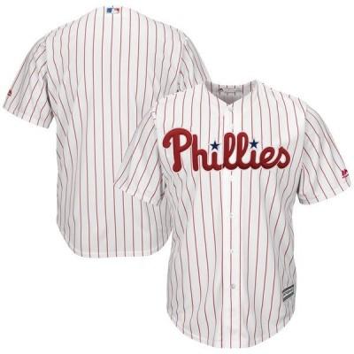 マジェスティック メンズ Tシャツ トップス Philadelphia Phillies Majestic Home Official Cool Base Team Jersey
