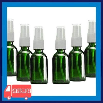 【漏れなし】SHINEZONE スプレーボトル 30ml 6本 遮光 ガラス製 スプレー容器 詰替ボトル 携帯 ボトル ト香水のため