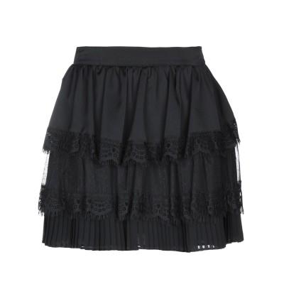 シルビアンヒーチ SILVIAN HEACH ミニスカート ブラック S ポリエステル 100% ミニスカート