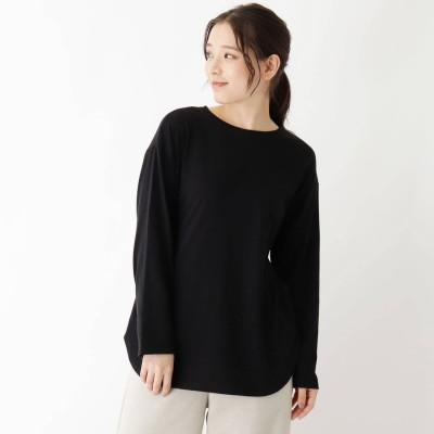 ピンクアドベ pink adobe 【抗菌防臭】シンプルロングTシャツ (ブラック)
