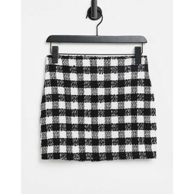 エイソス ASOS DESIGN レディース ミニスカート スカートスーツ スカート mini suit skirt in mono boucle