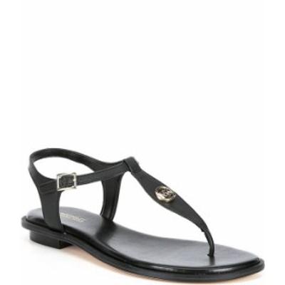 マイケルコース レディース サンダル シューズ MICHAEL Michael Kors Mallory Leather Thong Sandals Black
