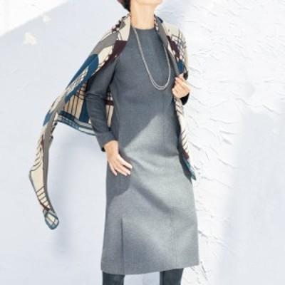 ワンピース セール レディース ノバラ社 イタリア素材 シルク起毛仕上げ ワンピース 秋 PC5357