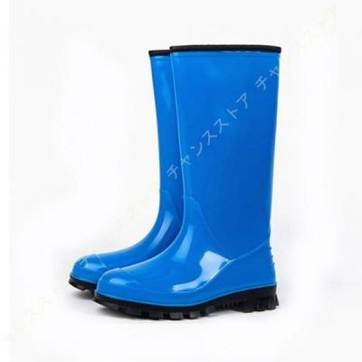 長靴 レインブーツ レディース ロング 23-25cm 長くつ 靴 ラバーブーツ 軽量 軽い おしゃれ 大きいサイズ 雨 雨用 キャンプ フェス アウトドア ガーデニング