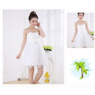 ウエディングドレス/パーティードレス /dress177結婚式/披露宴/二次会/パーティードレス/ビスチェウエディングドレス/マタニティウエディングドレス♪