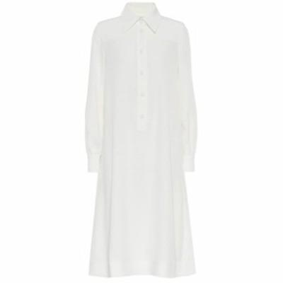 コー Co レディース ワンピース ワンピース・ドレス Crepe shirt dress Ivory