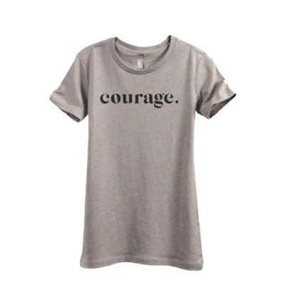 レディース 衣類 トップス Courage Women's Fashion Relaxed T-Shirt Tee Heather Tan Small グラフィックティー