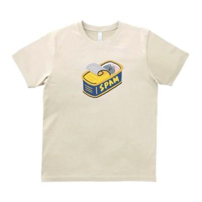 スパム缶の中に隠れるネコ デザイン・アート Tシャツ サンド
