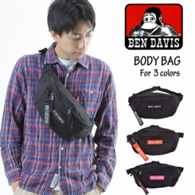 BEN DAVIS ベンデイビス 2way ボックス ウエストバッグ ボディバッグ 斜め掛け メンズ レディース 黒 おしゃれ 人気 大きめ ストリート B