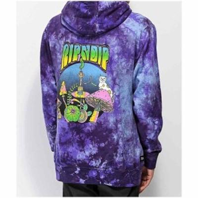 リップンディップ RIPNDIP メンズ パーカー トップス Psychedelic Nerm Purple Tie Dye Hoodie Purple