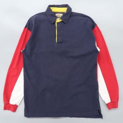 古着 ST.JOHN'SBAY ラガーシャツ 長袖ポロシャツ マルチカラー サイズ表記:M