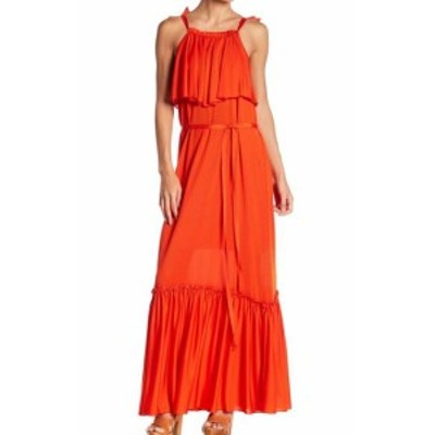 Free People フリーピープル ファッション ドレス Free People NEW Red Womens Size Medium M Popover Flounce Gown Dress