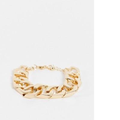 エイソス レディース ブレスレット・バングル・アンクレット アクセサリー ASOS DESIGN bracelet in gold 18mm chain Gold