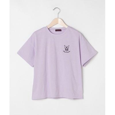 【ラブトキシック】 サンリオ刺繍半袖Tシャツ キッズ ラベンダー 150 Lovetoxic