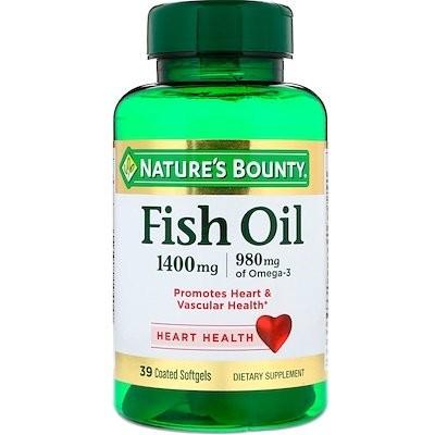 Fish Oil, 1400 mg, 39 Coated Softgels