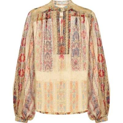 エトロ Etro レディース ブラウス・シャツ トップス printed keyhole silk blouse