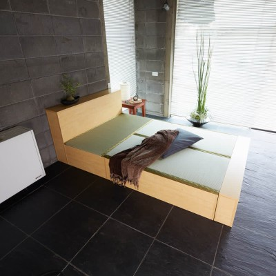 ユニット畳シリーズ ベッドセット 幅120奥行215cm 高さ31cm(本体高さ70cm) ダークブラウン