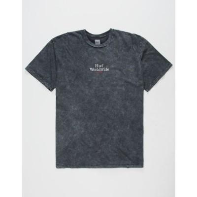 HUF メンズ ティーシャツ HUF Worldwide Black Mens T-Shirt