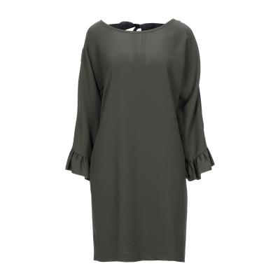 SHIRTAPORTER ミニワンピース&ドレス ミリタリーグリーン 42 ポリエステル 100% ミニワンピース&ドレス