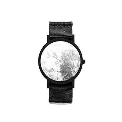 特別価格South Lane ステンレススチール スイス製クオーツ腕時計 レザーカーフスキンストラップ ブラック 20 (モデル:AW18-2-124)好評販売中