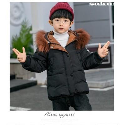 子供服中綿コート男女の子ロング中綿ジャケット韓国防寒ジャケットアウターファーコート暖かいかわいいキッズコート綿入れコートファーコート