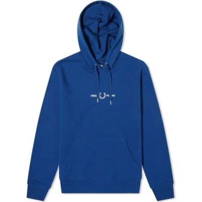 フレッドペリー Fred Perry Authentic メンズ パーカー トップス embroidered logo popover hoody Deep Marine