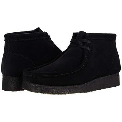 クラークス Wallabee Boot レディース ブーツ Black Suede 1