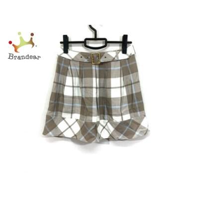 バーバリーブルーレーベル スカート サイズ38 M レディース 美品 - ひざ丈/チェック柄 新着 20200818