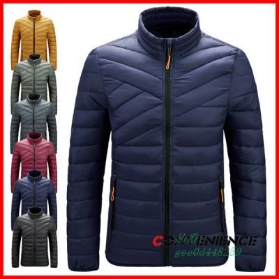 中綿ダウンジャケット キルティングジャケット 中綿入り 薄い 軽量 ビジネス ジップアップ 20代 カジュアル 中綿ジャケット ジャケット 40代 30代 大きいサイズ