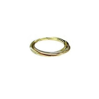 """iJewelry2 Multi-Tone Five Interlocking Bangle Bracelet 8""""並行輸入品 送料無料"""