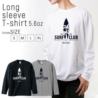 Tシャツ ロンT 長袖 メンズ 男女兼用 サーフ ヤシの木 ハワイ 夏 ロゴ SURF ボード メンズファッション ロングTシャツ