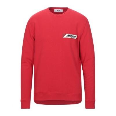 エムエスジーエム MSGM スウェットシャツ レッド S コットン 100% スウェットシャツ