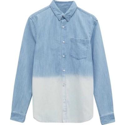 フレンチコネクション French Connection メンズ シャツ デニム トップス Slub Denim Shirt Dip Dye